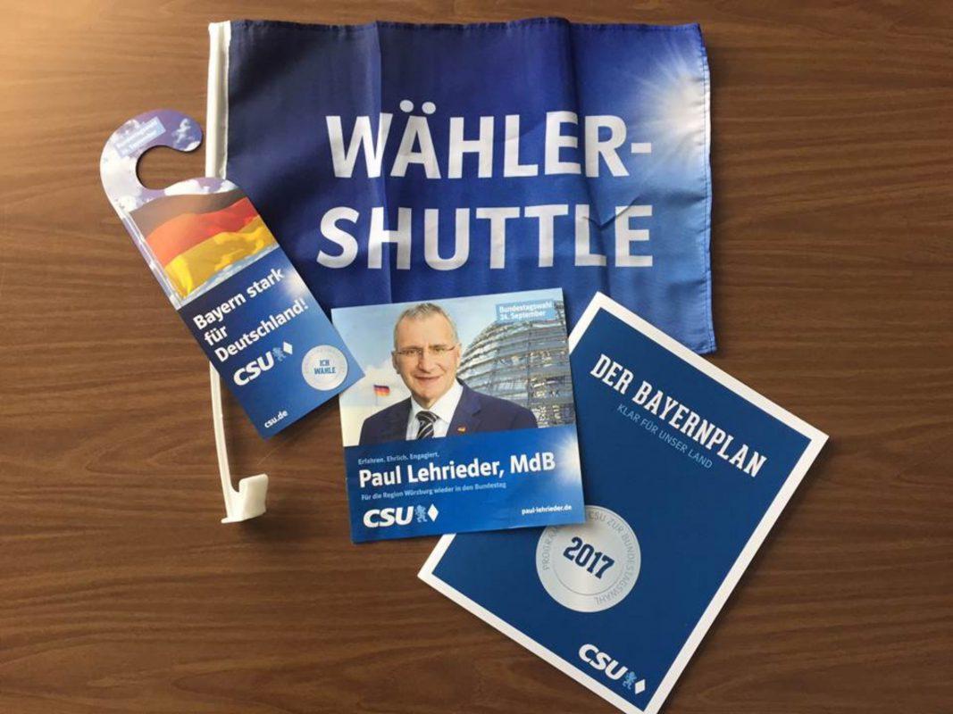 Wähler-Shuttle Flyer I Foto: CSU Bundeswahlkreis Würzburg