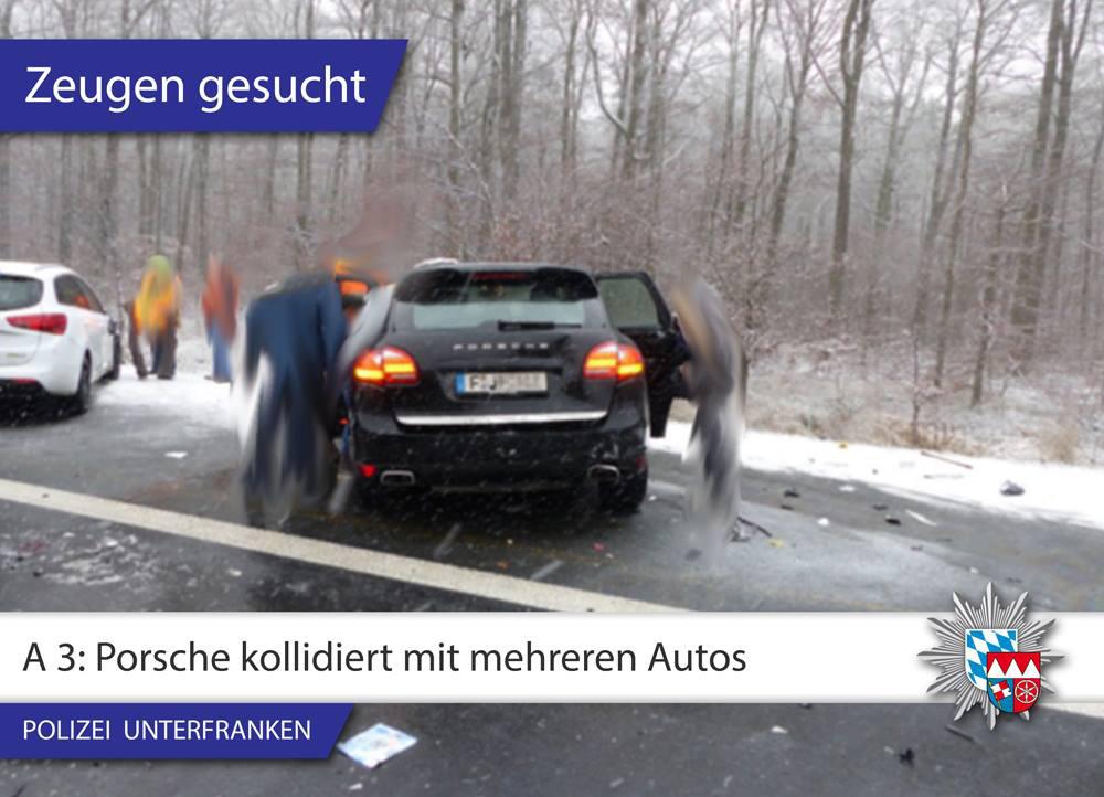 Der schwarze SUV mit Frankfurter Kennzeichen - Foto: Polizei Unterfranken