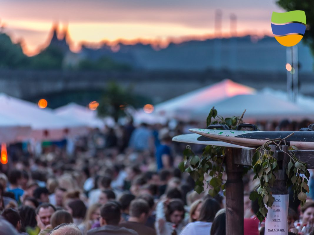 Weinstrand am Stadtstrand. Foto: Pascal Höfig