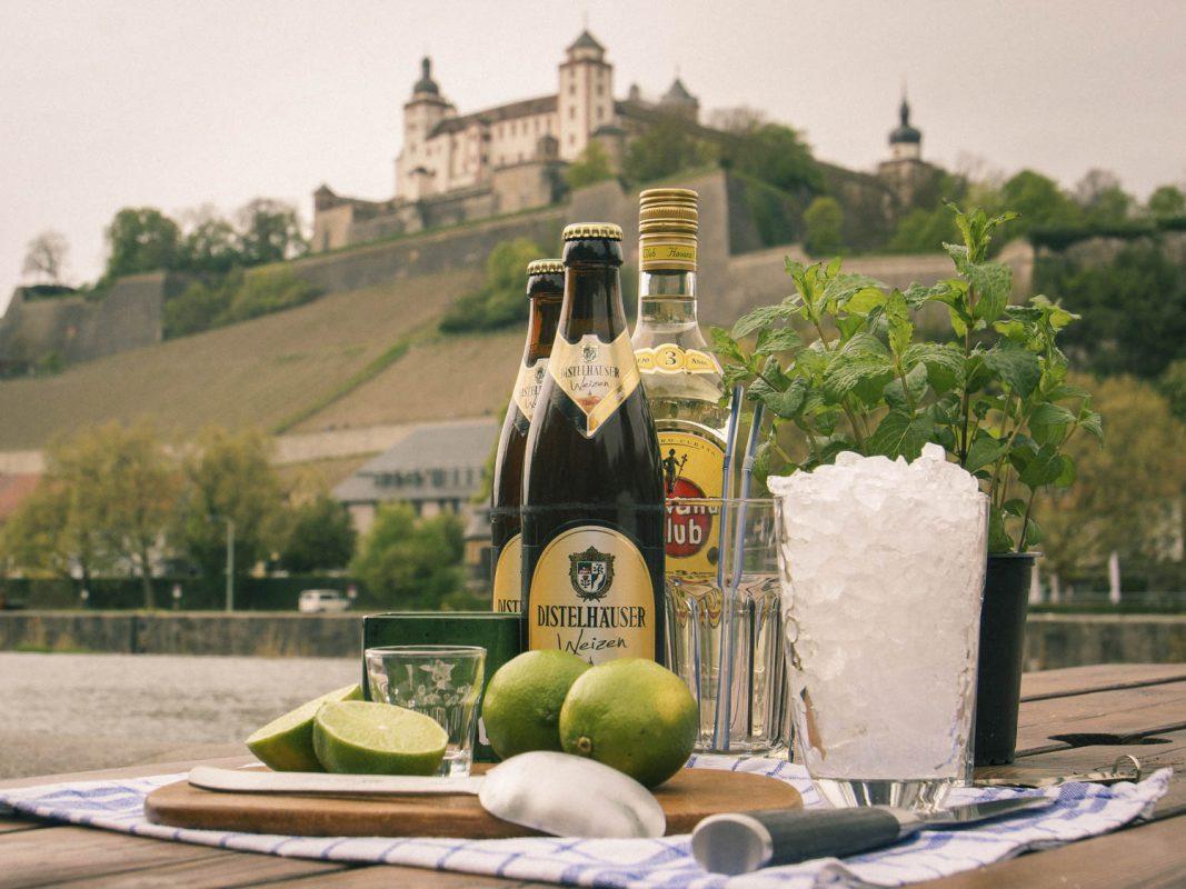 Weißbier-Mojito – regionales Bier trifft auf cubanisches Flair. Foto: Dominik Ziegler
