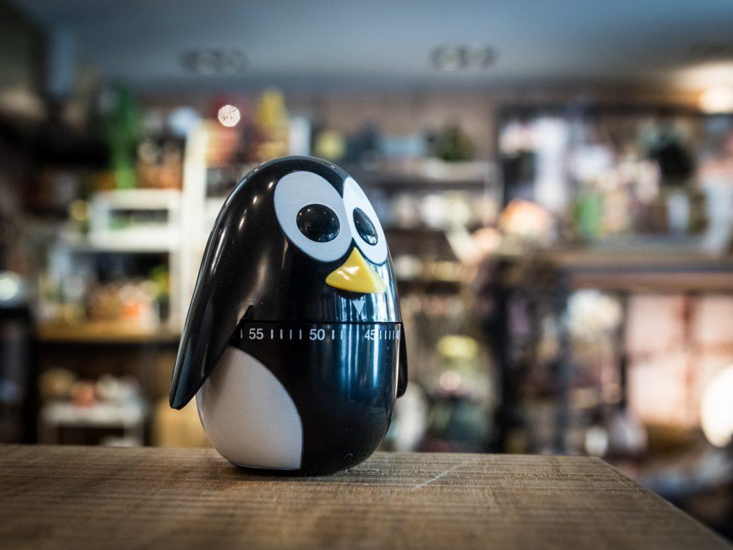 Der tickt richtig! Die Pinguin-Eieruhr von Kikerland. Foto: Pascal Höfig.
