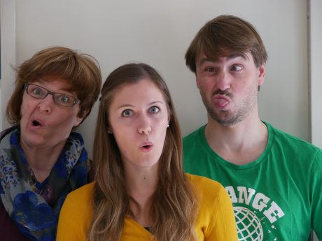 Das WÜRVAR-Orgateam Antje, Anna und Andy. Foto: Andy Sauerwein