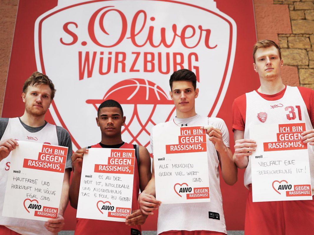 s.Oliver Würzburg ist gegen Rassismus. Foto: AWO