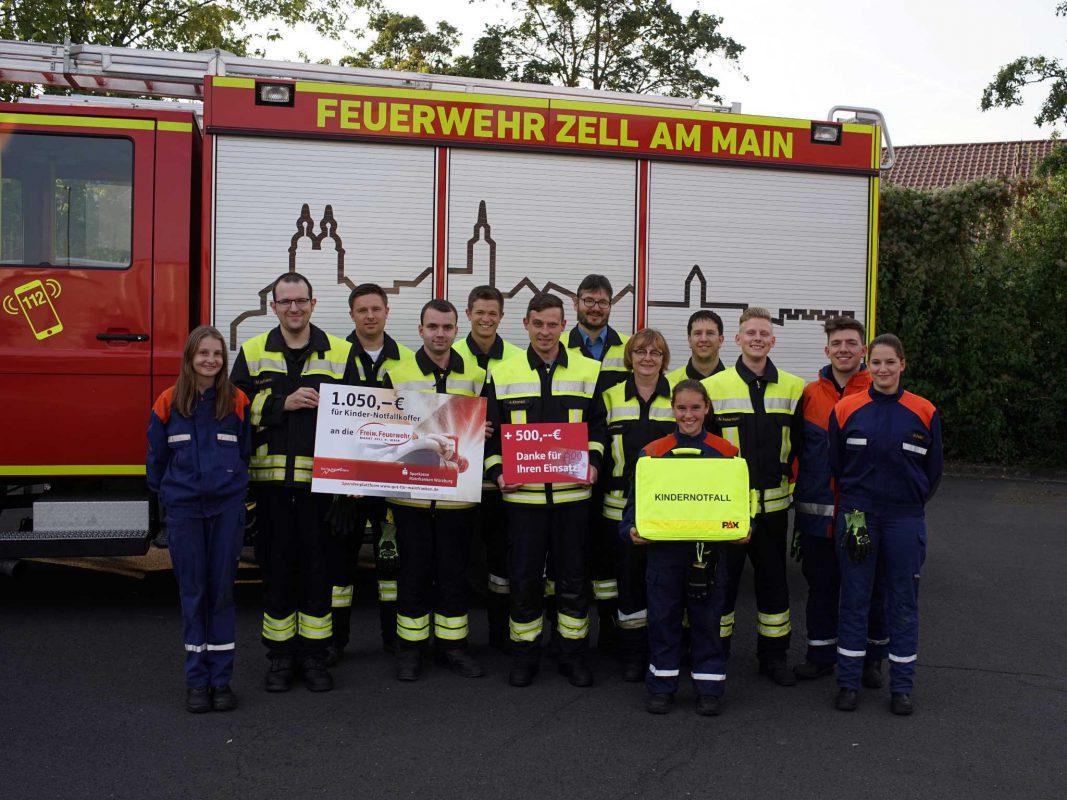 Die Mitglieder der freiwilligen Feuerwehr Zell. Foto: Freiwillige Feuerwehr Zell