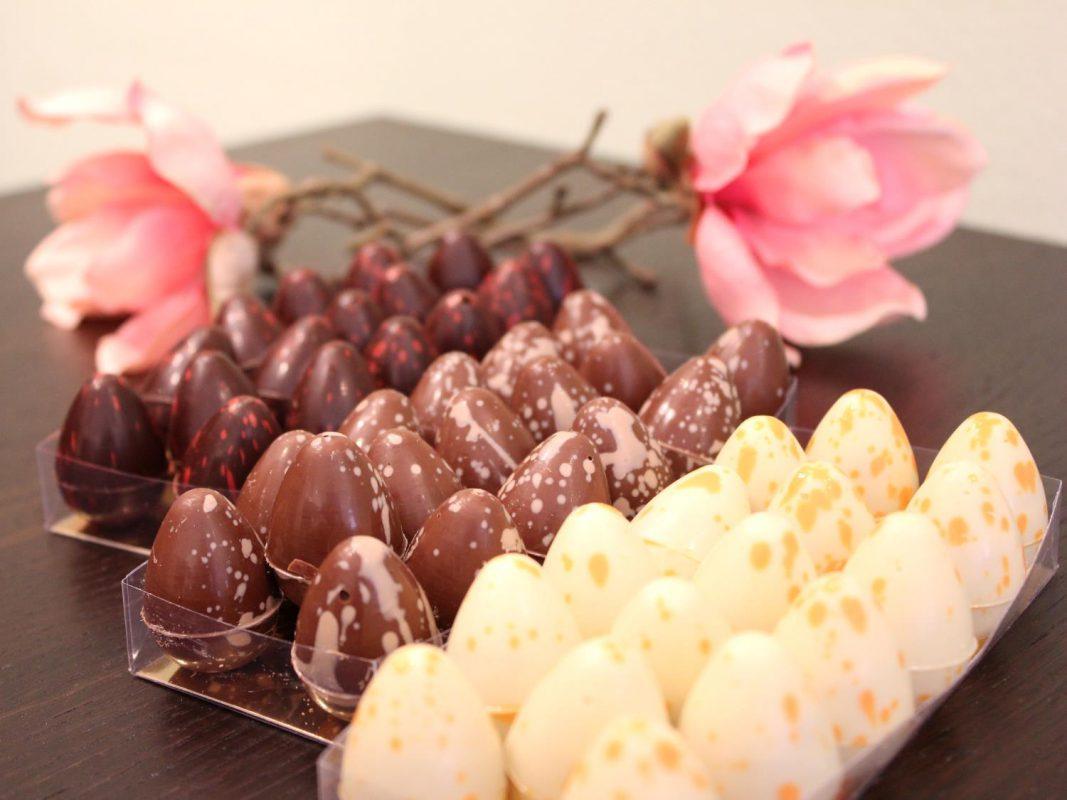 Gefüllte Schokoladeneier bei Petit Délice. Foto: Petit Délice
