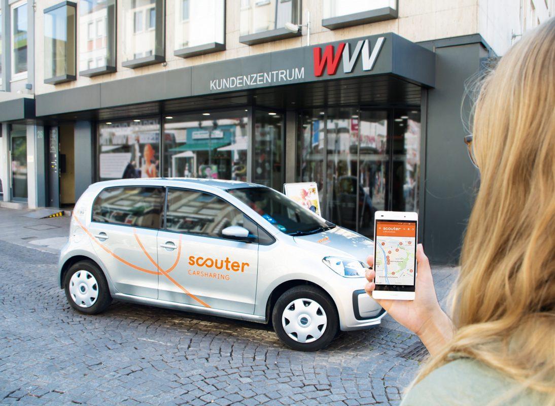 Jetzt im WVV-Kundenzentrum beraten lassen und von den Vorteilen von Carsharing überzeugen. Foto: scouter Carsharing