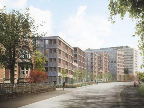 Perspektive Bismarckquartier: Vorschlag von Rapp & Rapp aus Amsterdam. Grafik: Rapp&Rapp