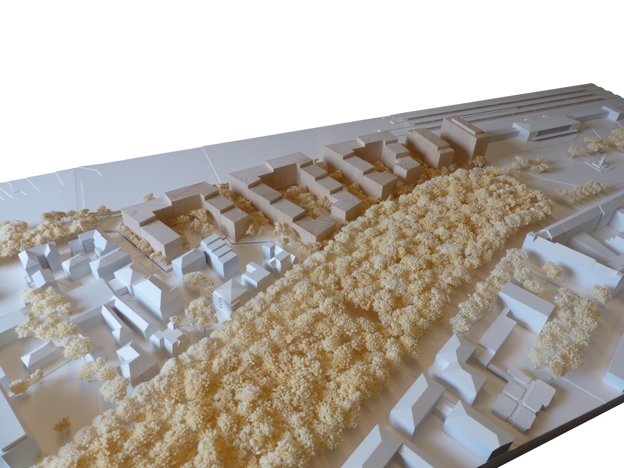 Modell zum Bismarckquartier von Rapp & Rapp. Modellfoto: Rapp & Rapp