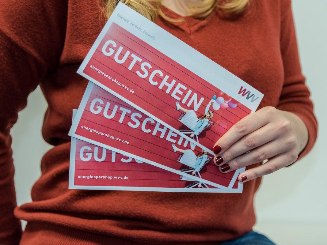 3 x 100€ Gutscheine für den WVV-Energiesparshop zu gewinnen! Foto: Pascal Höfig