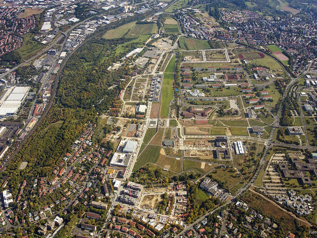 Luftaufnahmen vom Areal der Landesgartenschau - Foto: Landesgartenschau Würzburg