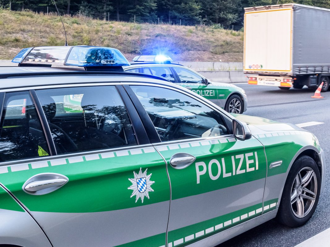 Stau Polizei Bw