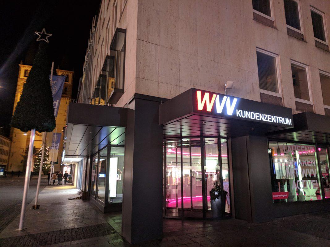 Das WVV Kundenzentrum. Foto: Christian Papay