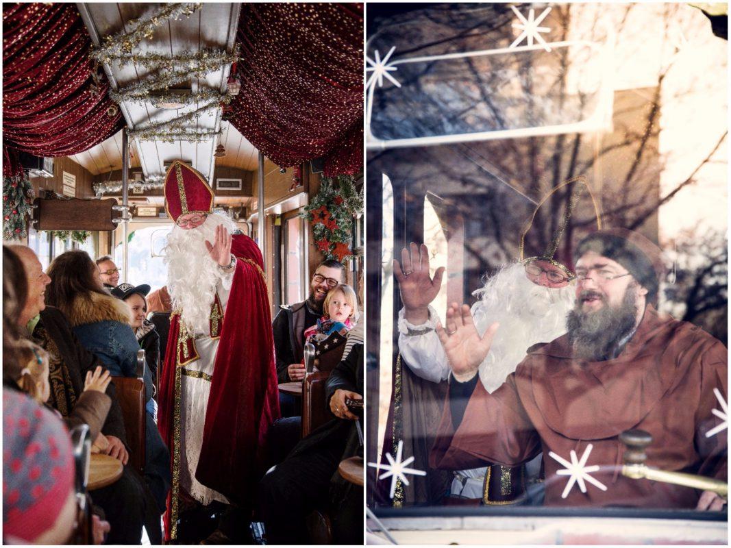 Michael Vogt und Michael Dees schlüpfen jedes Jahr in die Rollen des Nikolaus und Knecht Ruprecht. Foto: WVV