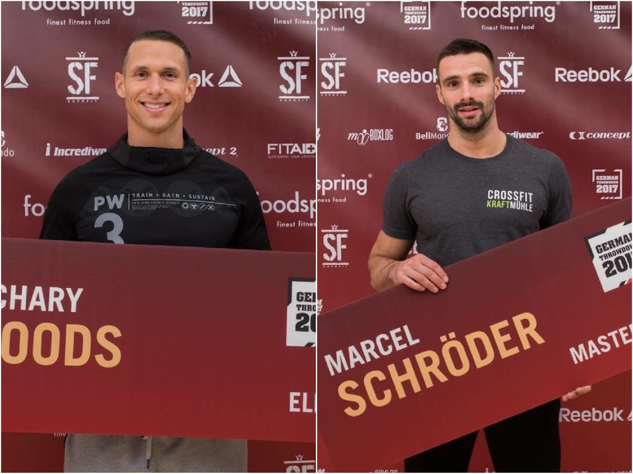Zach Woods & Marcel Schröder beim German Throwdown 2017. Foto: GTDZach Woods & Marcel Schröder beim German Throwdown 2017. Foto: GTD