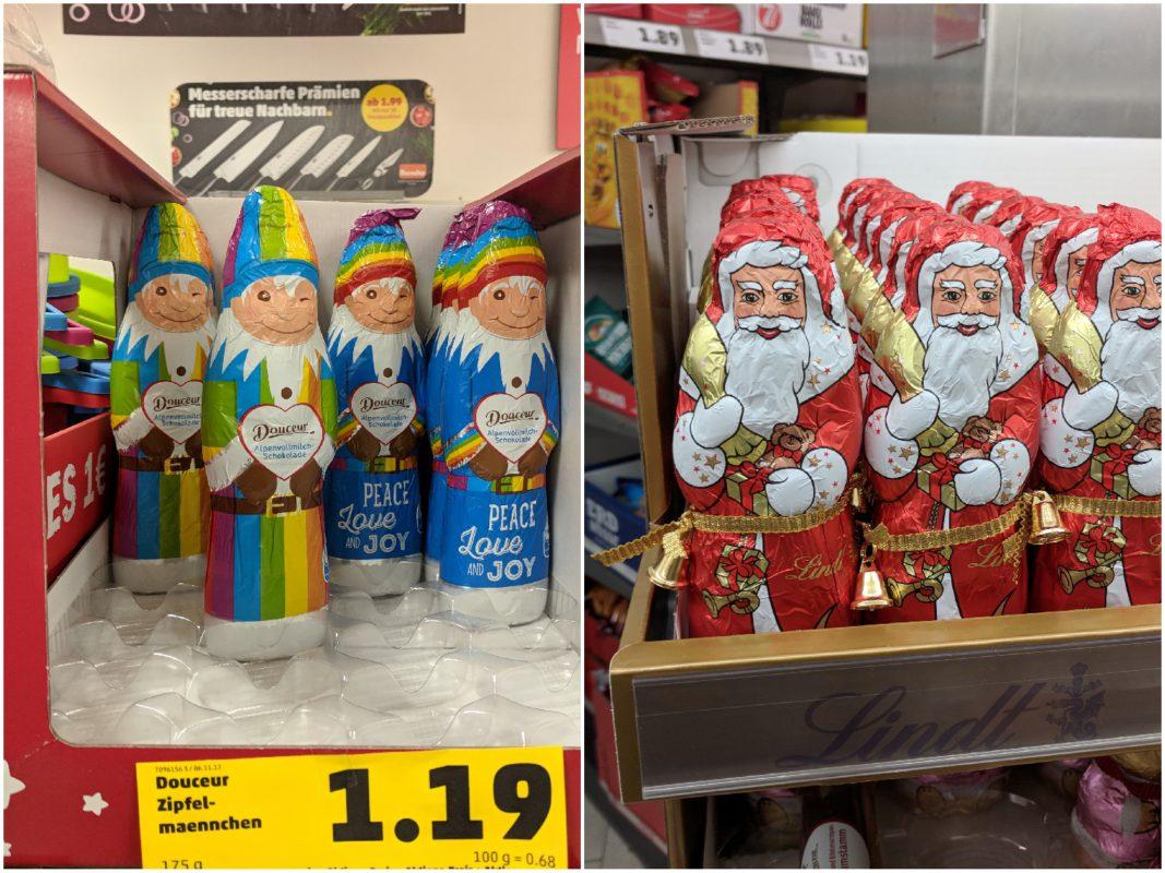 Zipfelmann vs. Weihnachtsmann im Penny. Foto: Christian J. Papay