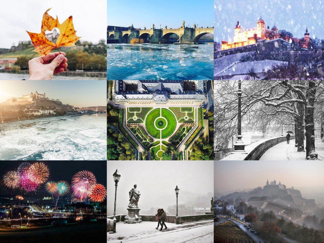 Best of Insta 2017. Eure beliebtesten Fotos unseres wuerzburglieben Instagram Accounts. Collage: Best of Wuefashion 2017. Collage: www.instagram.com/wuerzburglieben