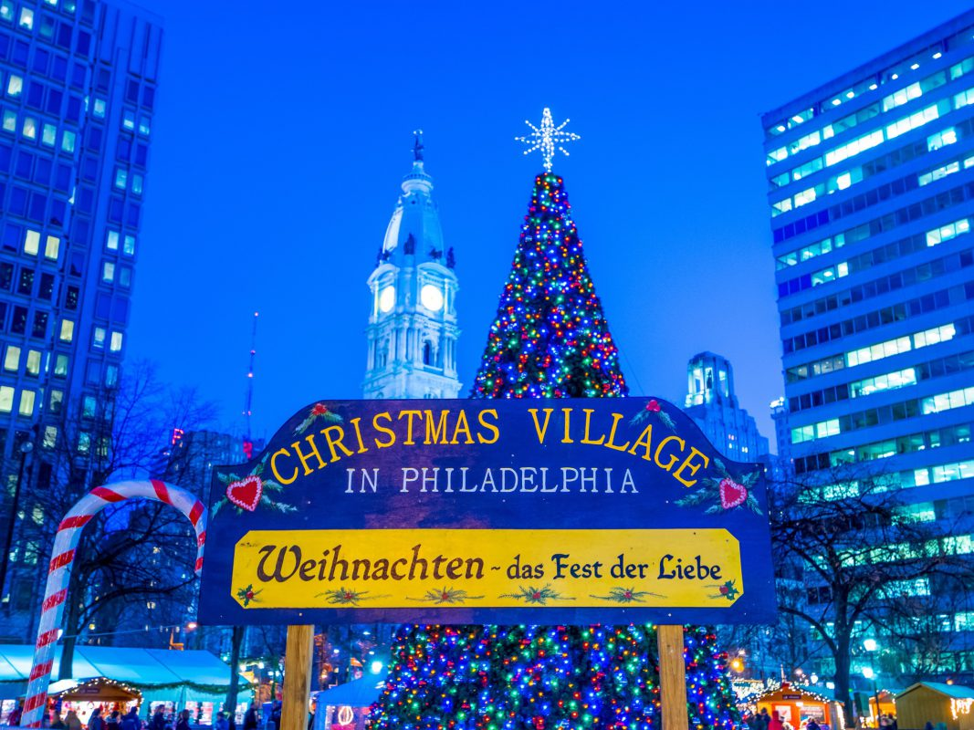 Das Christmas Village in Philadelphia. Foto: Russ Brown Photography