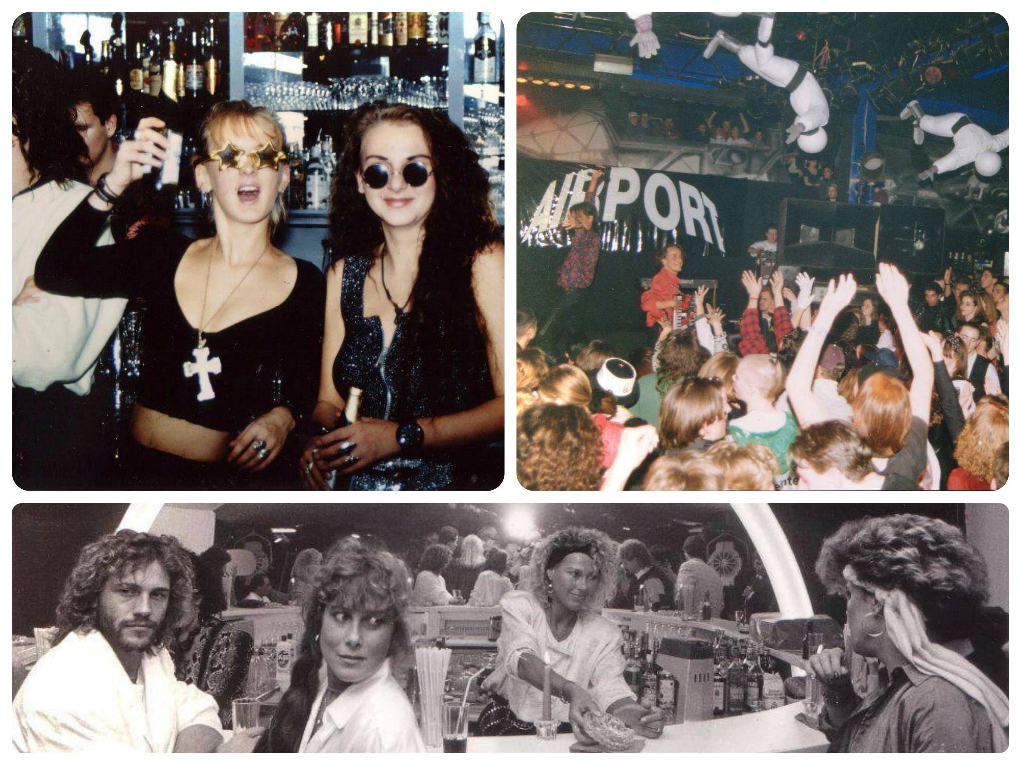 Legendäre Partys im Airport. Fotos: Archiv Airport