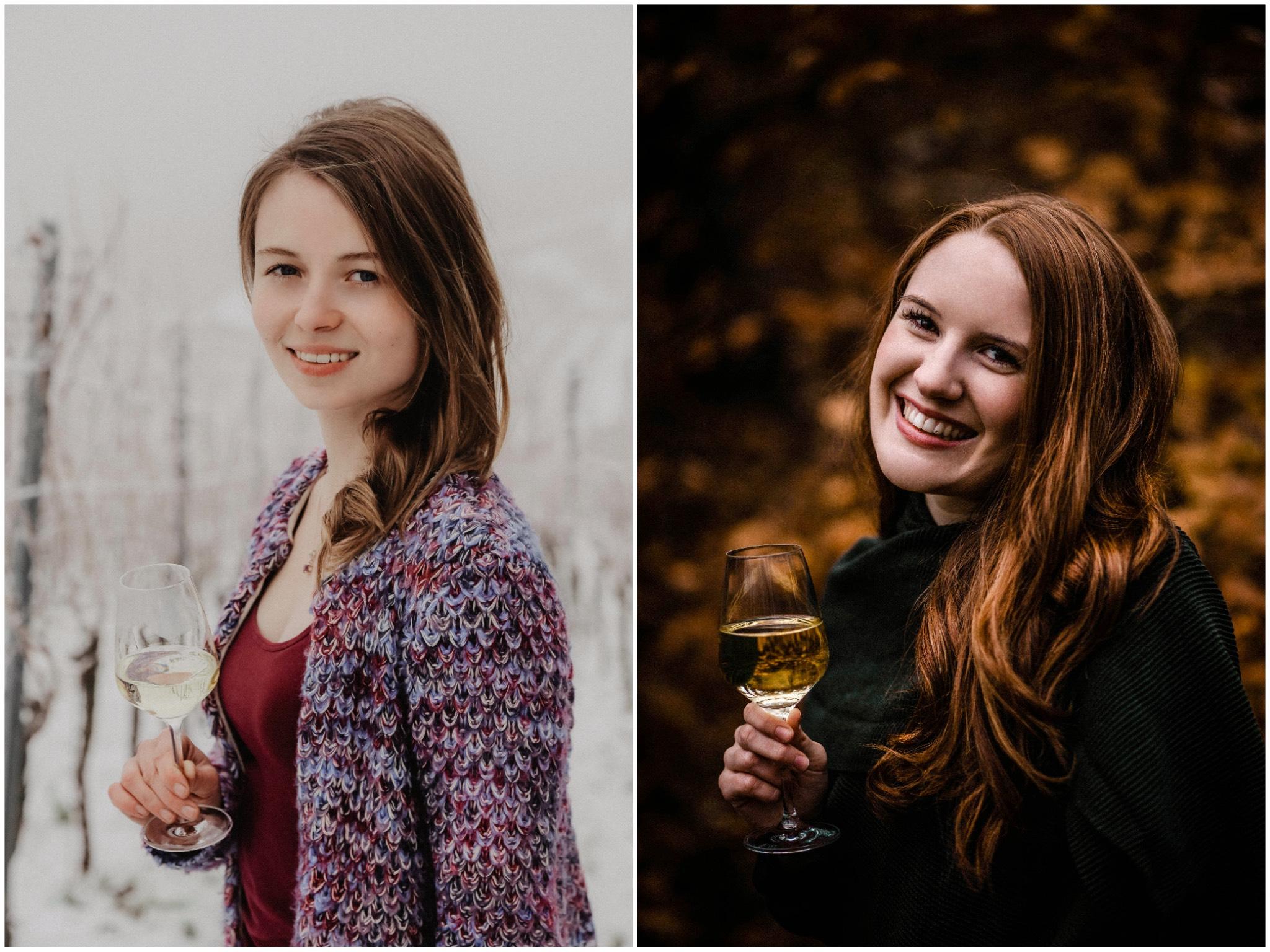 Julia Heindel (links) und Sina Kopp (rechts). Fotos: Fränkischer Weinbauverband e.V.