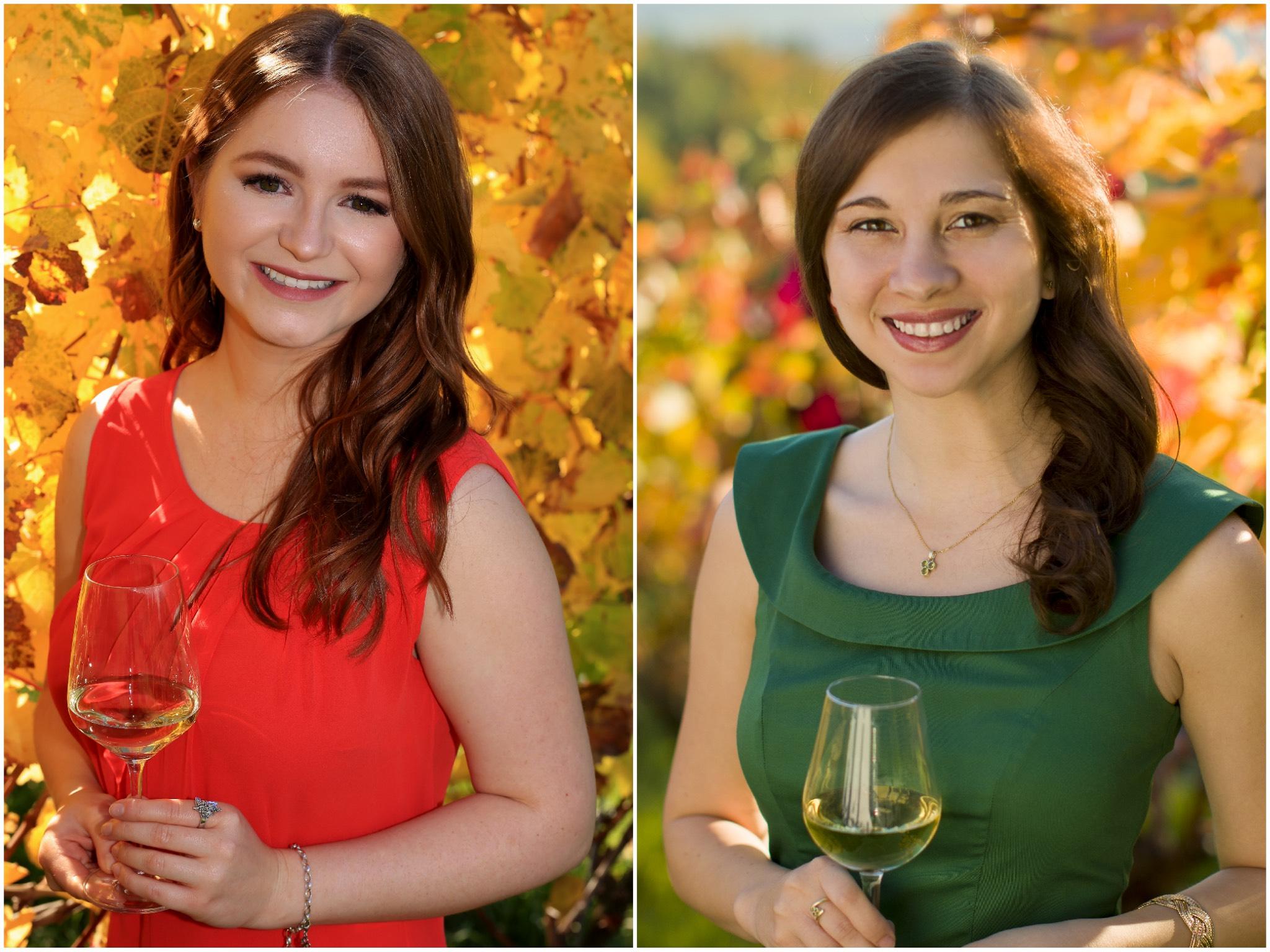 Magdalena Bauer (links) und Sophia Kron (rechts). Fotos: Fränkischer Weinbauverband e.V.