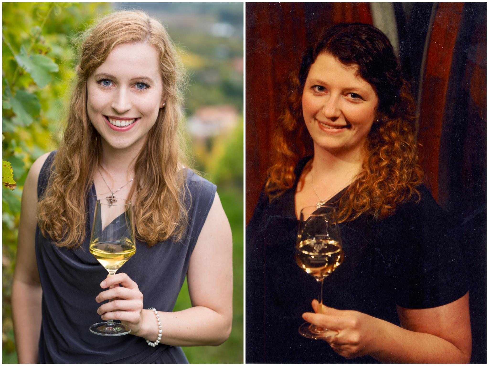 Klara Zehner (links) und Marina Prust (rechts). Fotos: Fränkischer Weinbauverband e.V.