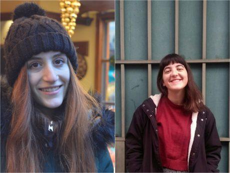 Lucia aus Italien (links) und Lena aus Griechenland. Fotos: Katharina Bormann (links), Lena Ionnidis (rechts)