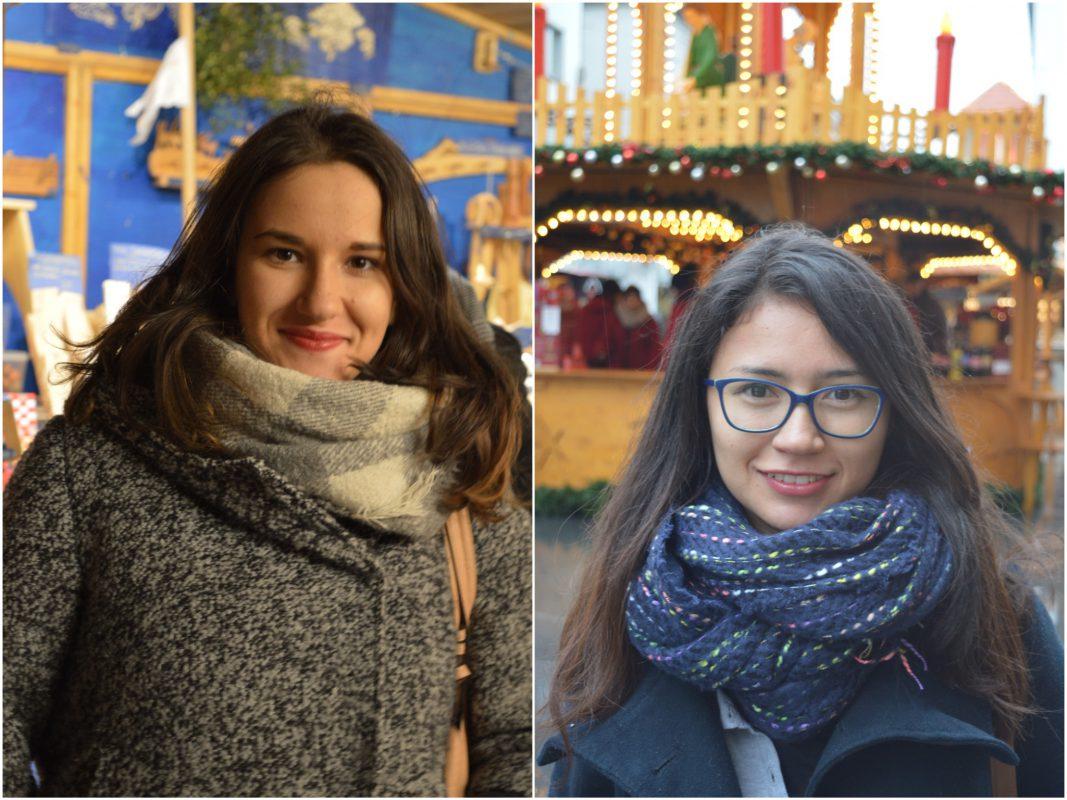 Die Studentinnen Violeta (links) und Valeria (rechts). Fotos: Katharina Bormann