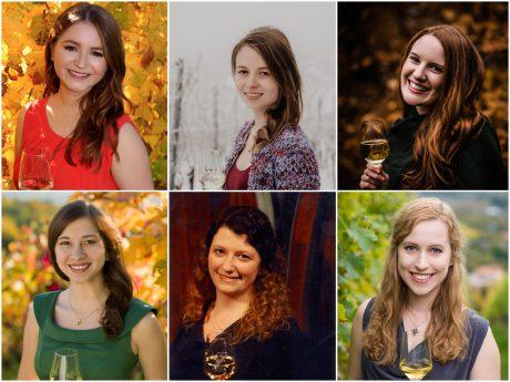 Die 6 Bewerberinnen für die Krone. Fotos: Fränkischer Weinbauverband e.V.