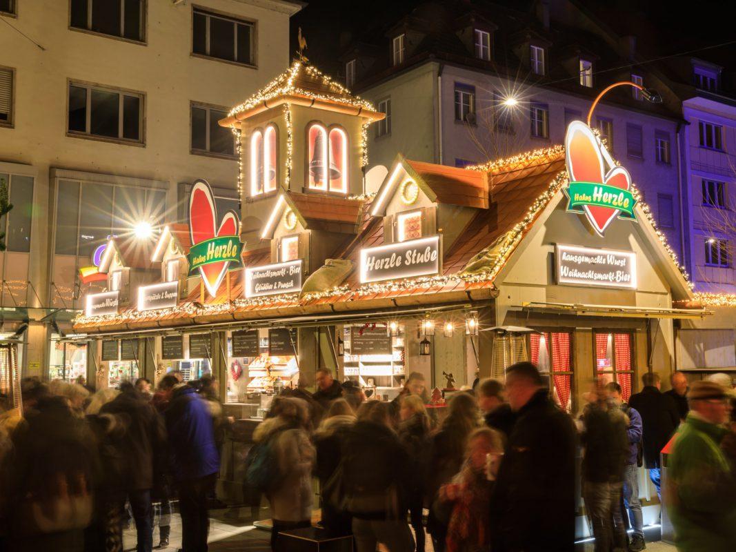 Hahns Herzle auf dem Würzburger Weihnachtsmarkt. Foto: webflasher