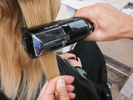 Spliss Adé dank SplissSchnitt bei Hair Fashion & Academy. Foto: Rolando Lemuria