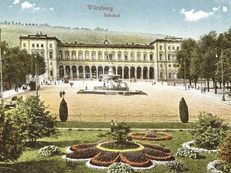 Der Bahnhof im Jahre 1916. Archiv: Willi Dürrnagel