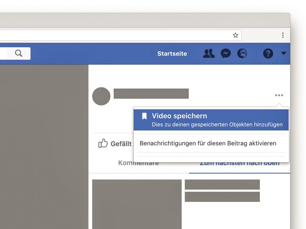 Facebook Video speichern. Foto: Screenshot Facebbok