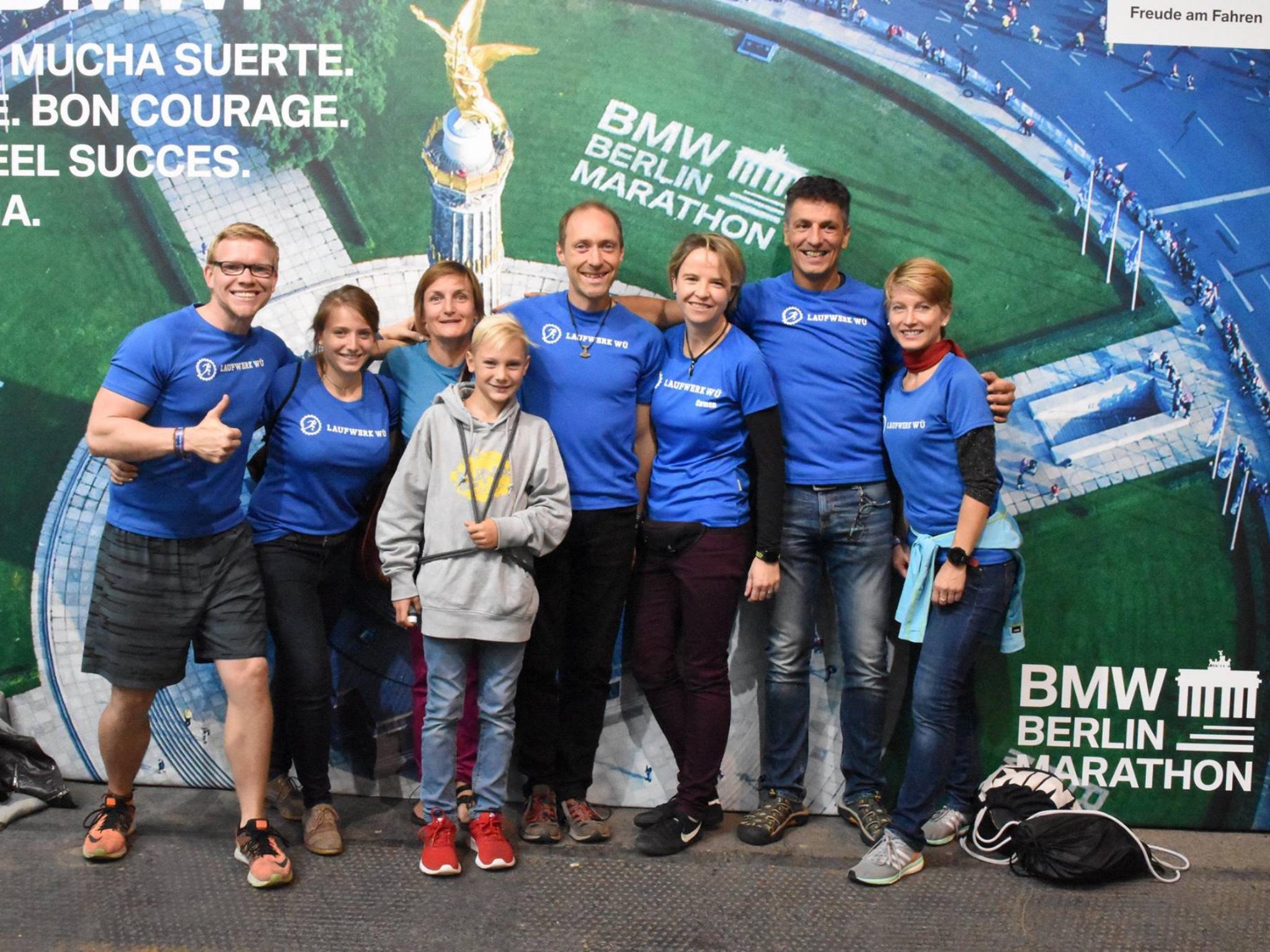 Sven Gehwald (links) beim Berlin Marathon. Foto: Sven Gehwald