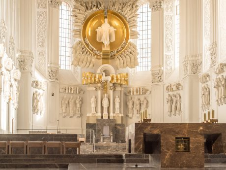 Der Bischofsstuhl im Würzburger Dom. Foto: Pascal Höfig