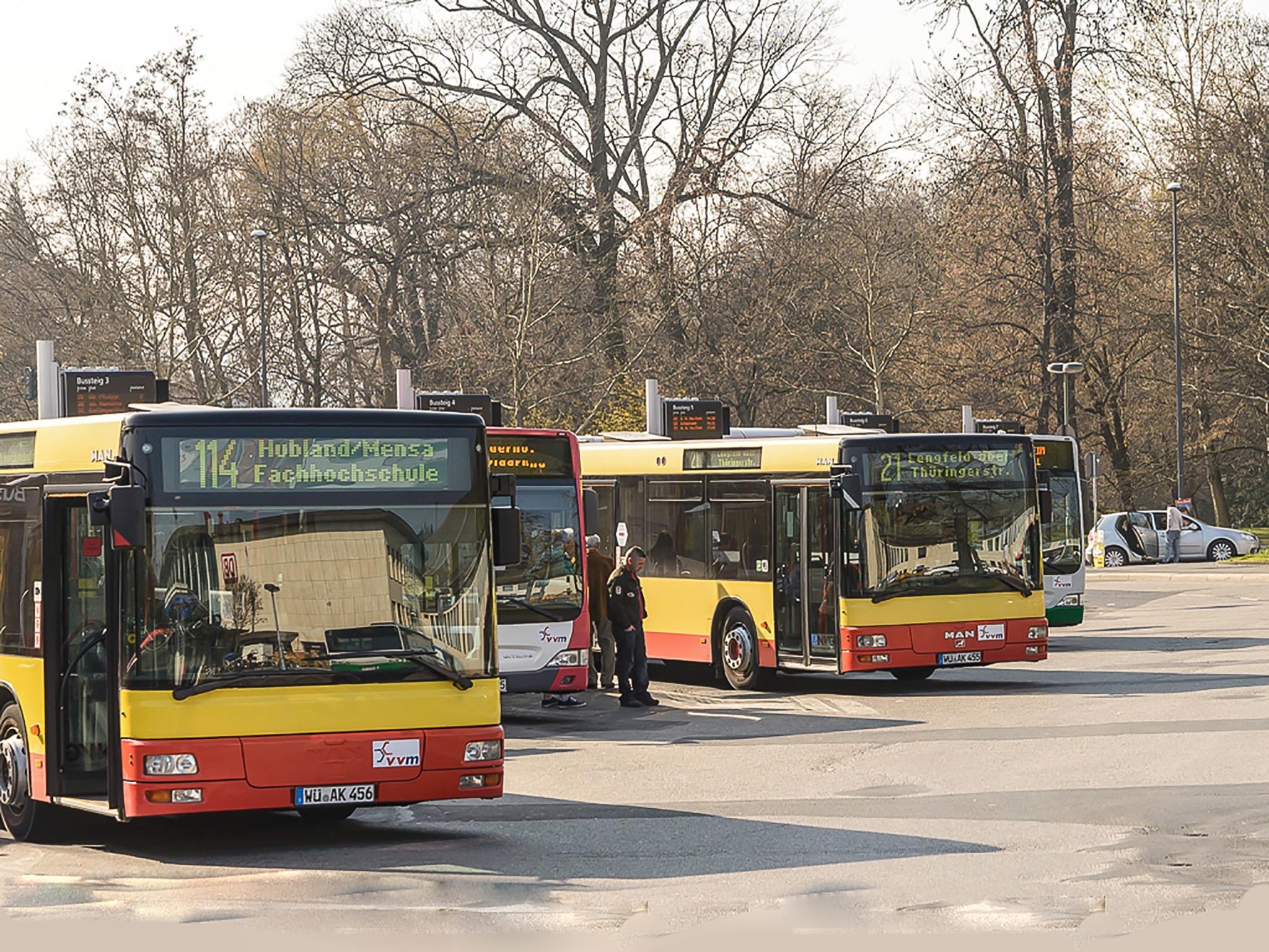 Busbahnhof Würzburg. Foto: Pascal Höfig