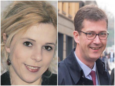 Neues Paar: Eva-Maria Bast und OB Christian Schuchardt. Fotos: Jørn Precht (links), Pascal Höfig (rechts)