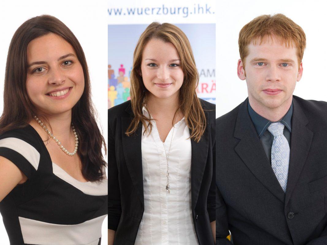Christina, Lisa und Ralf von der IHK. Foto: IHK Würzburg-Schweinfurt