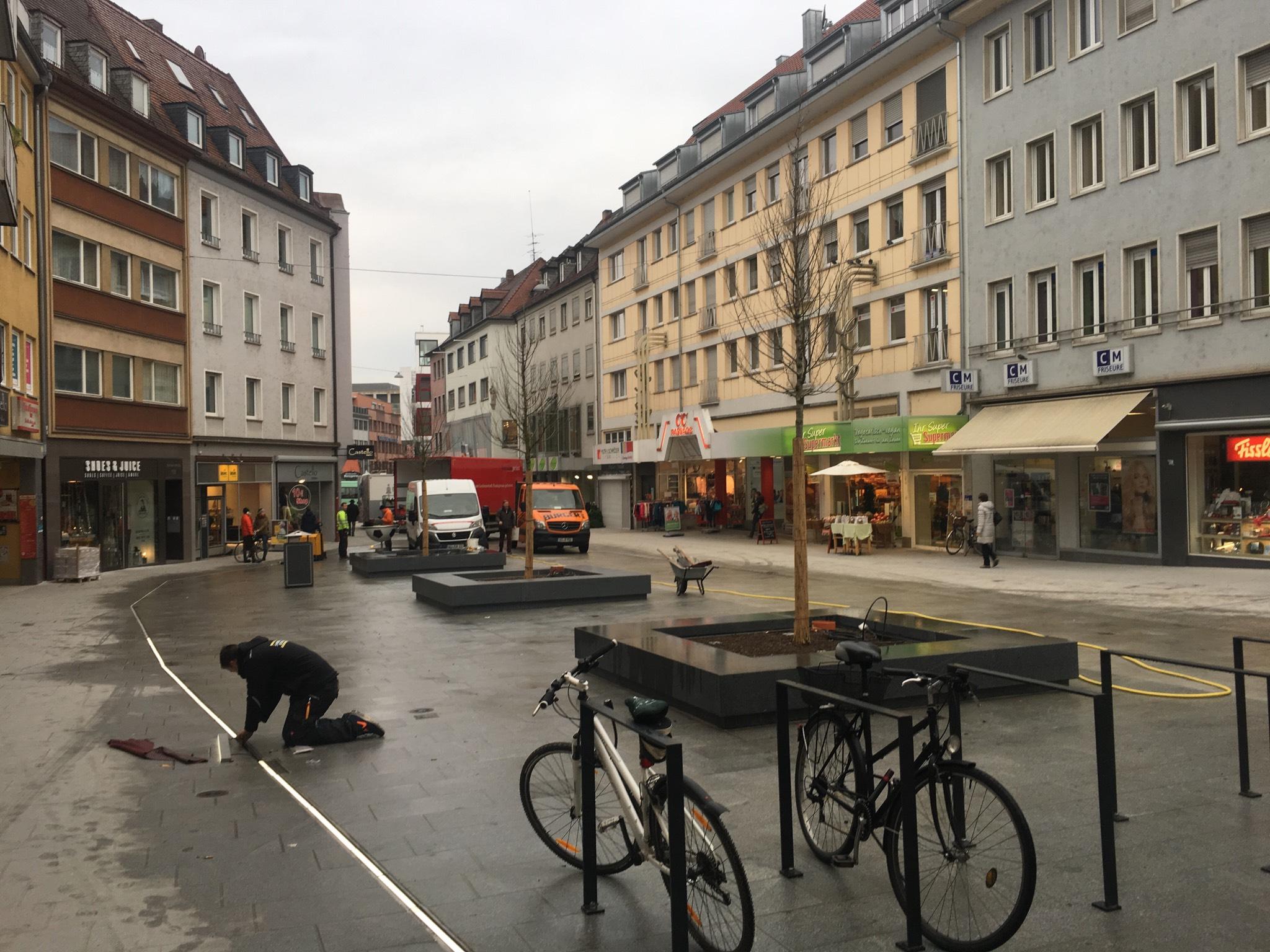 Neu gestaltete Eichhornstraße. Foto: Leo