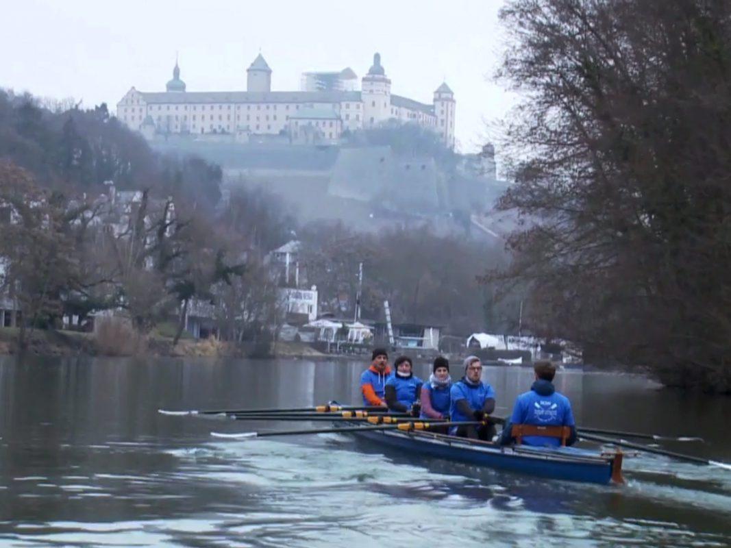 """Die Ruderer aus Würzburg sind für den Wettbewerb """"Sterne des Sports"""" nominiert. Foto: Tobias Wittenzellner (Donau TV)."""