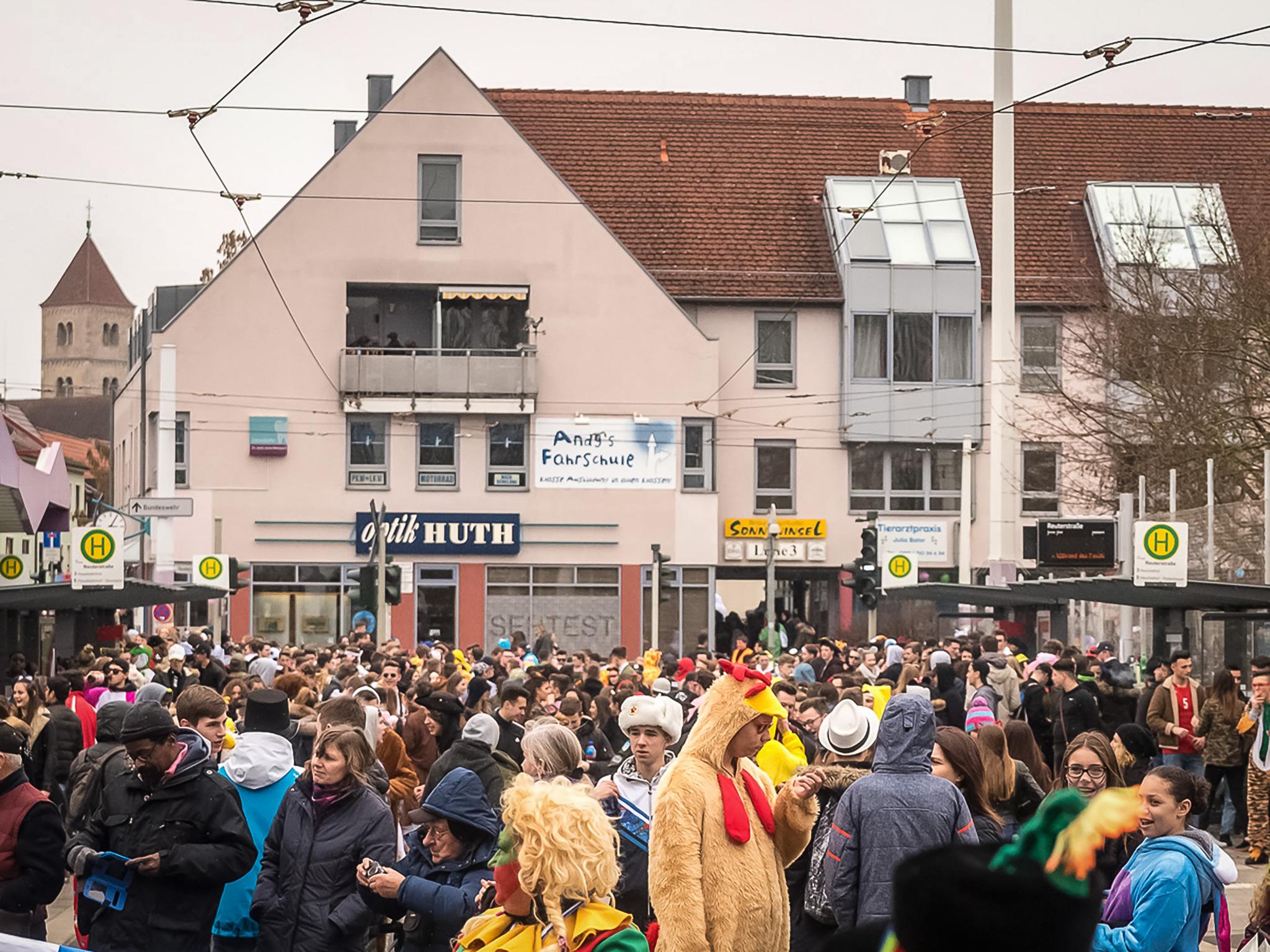 Die Reuterstraße beim Hätzfelder Faschingsumzug im letzten Jahr. Foto: Pascal Höfig