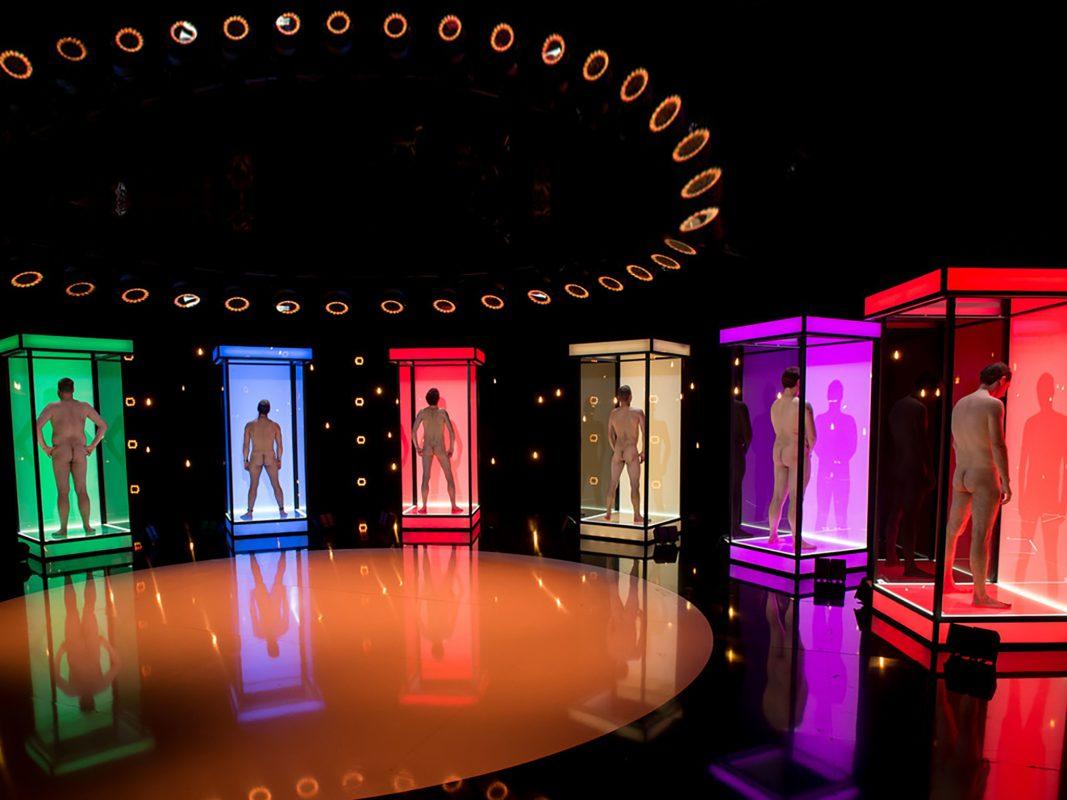 Die männlichen Kandidaten in der Box. Foto: © RTL II