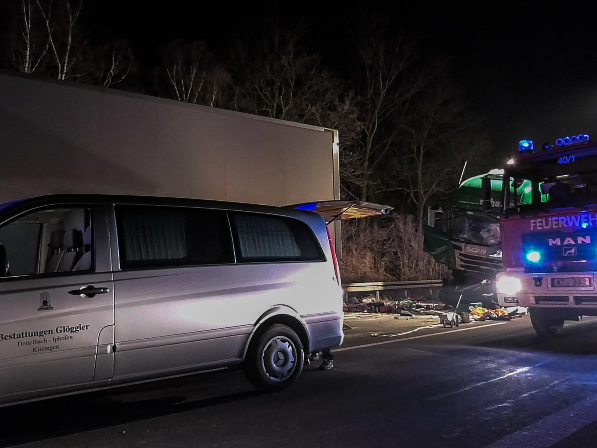Kitzingen: Zweiter tödlicher Lkw-Unfall innerhalb von zwei Stunden ...