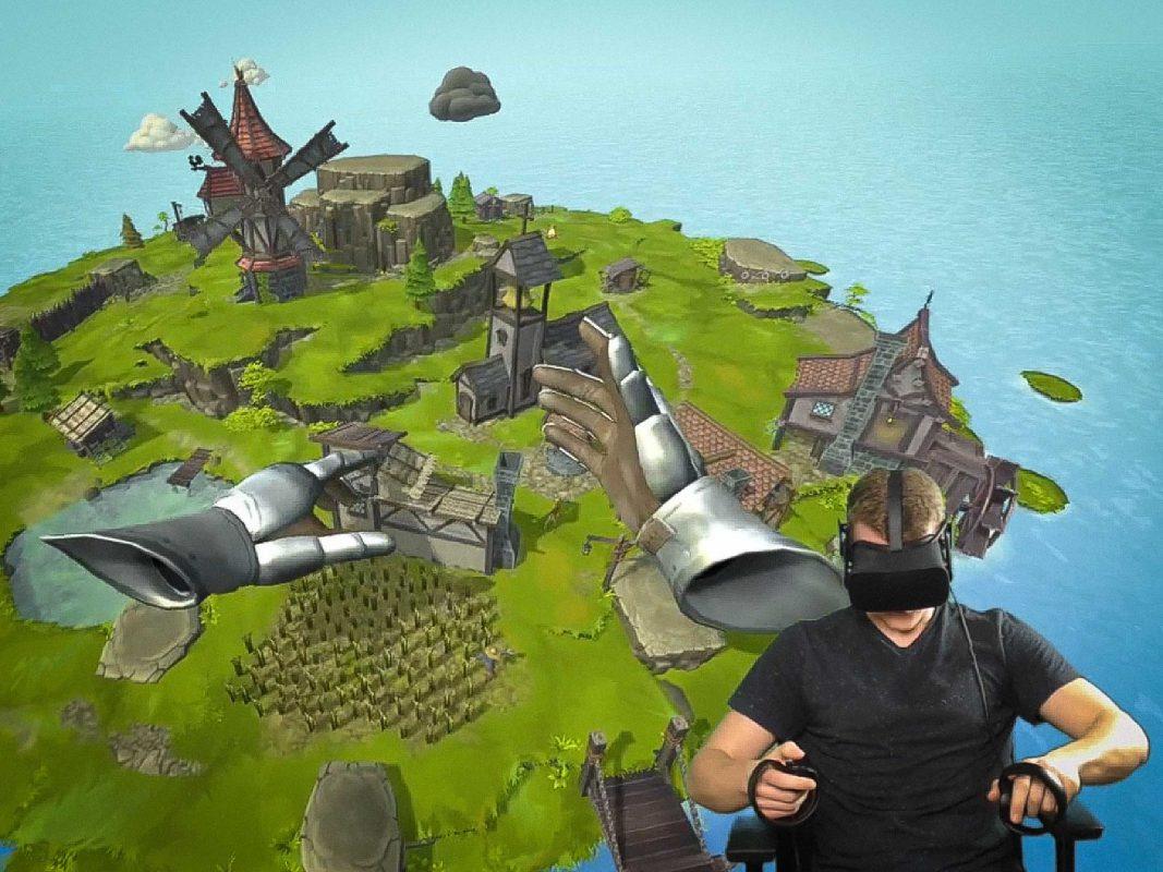 Das Spiel Townsmen VR von HandyGames. Foto: Dominik Ziegler