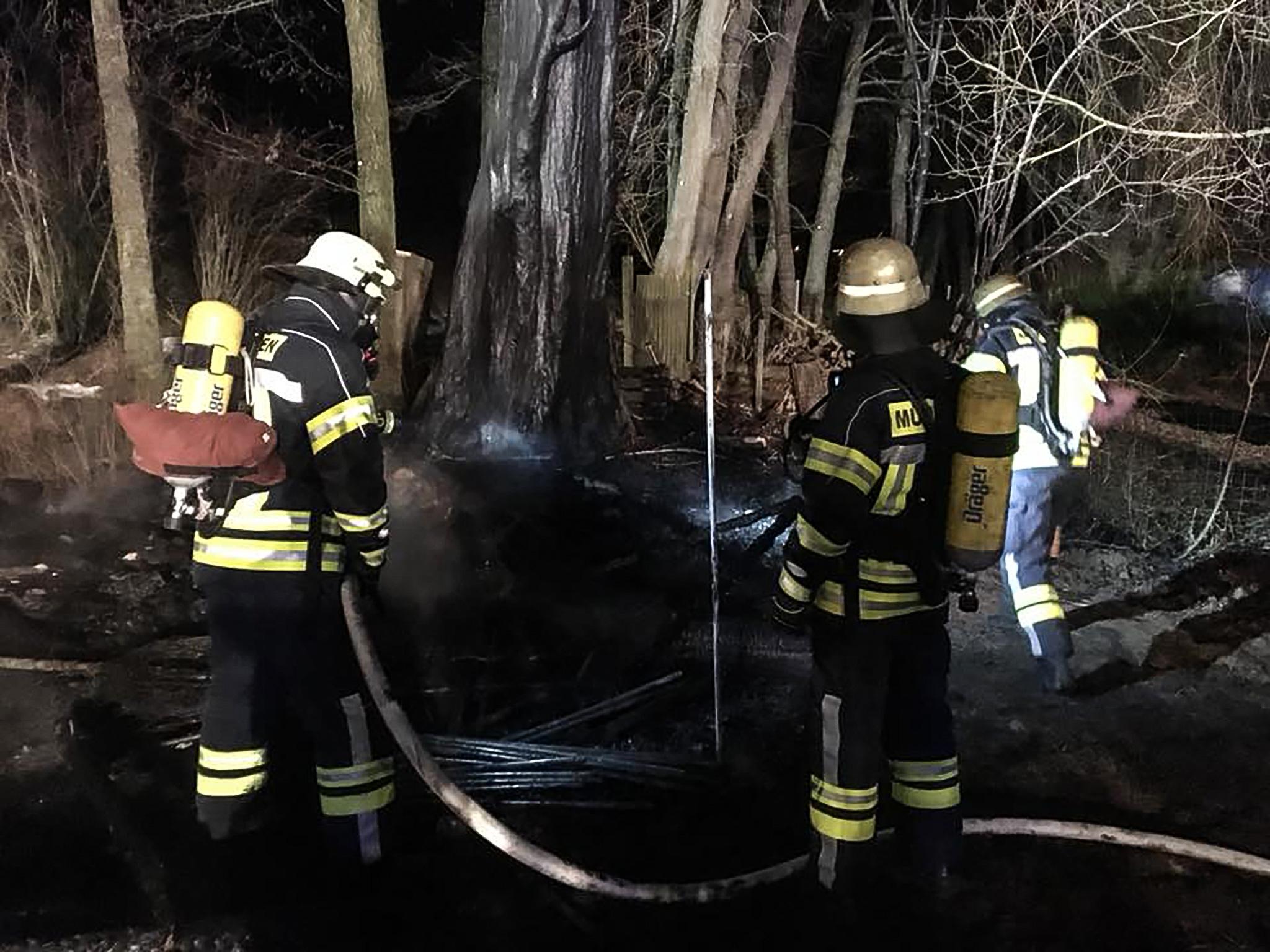 Zahlreiche Einsatzkräfte löschten den Brand. Foto: Freiwillige Feuerwehr Estenfeld
