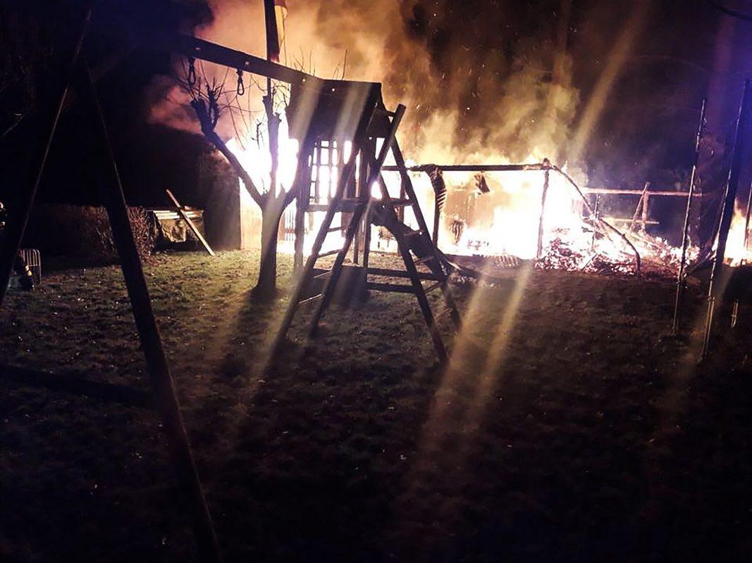 Es entstand ein Sachschaden in Höhe von mehreren tausend Euro. Foto: Freiwillige Feuerwehr Estenfeld