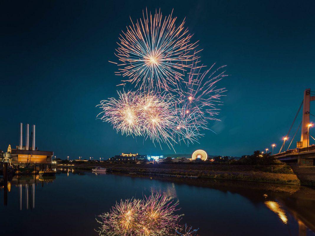 Feuerwerk beim Volksfest. Foto: Max Ziegler