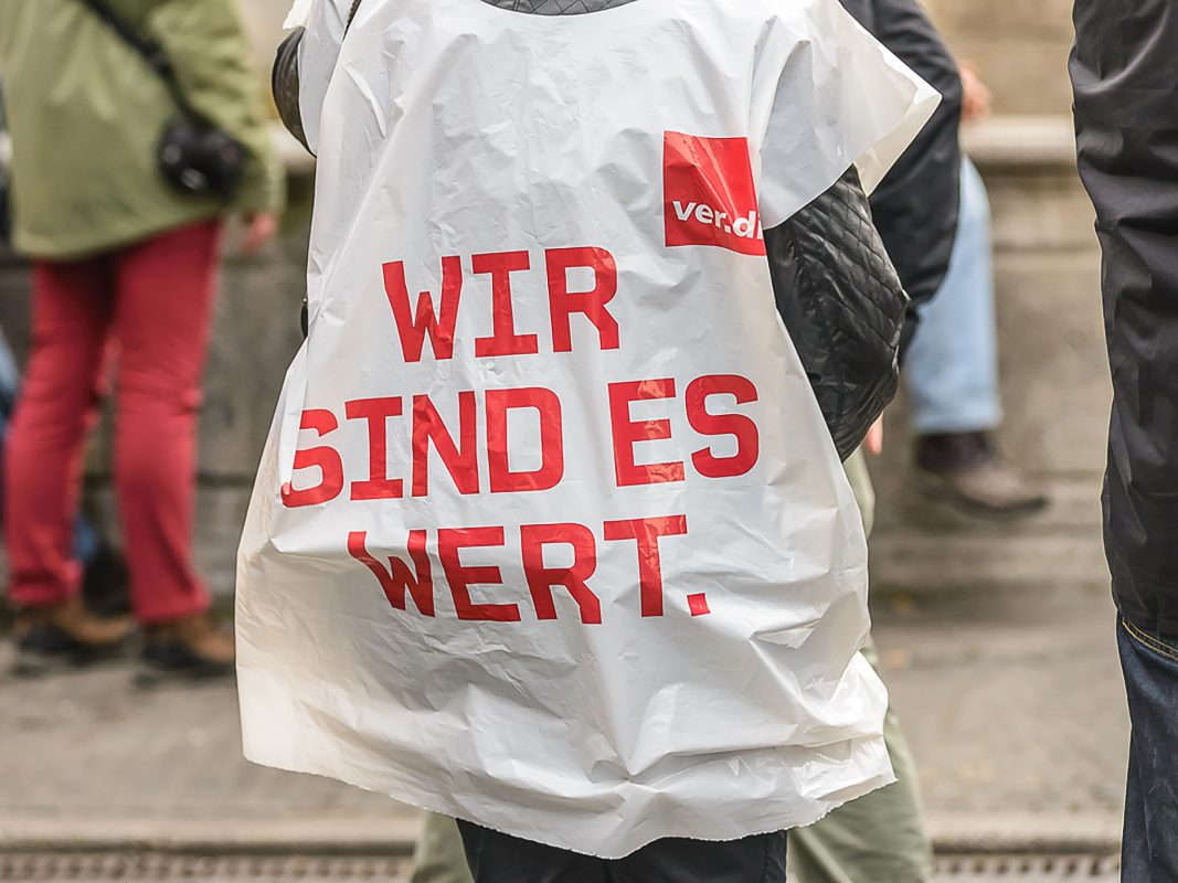 Ver.di Warnstreik. Symbolfoto: Pascal Höfig