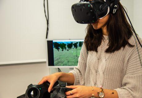 Virtual Reality testen! Foto: Pascal Höfig
