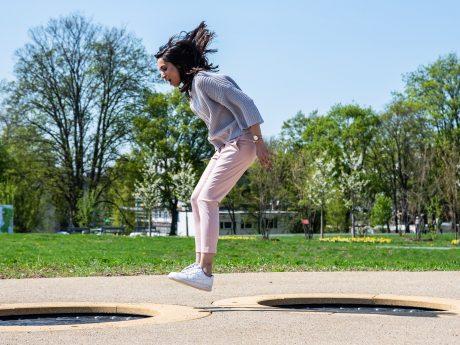 Spaß & Schritte bei der LGS. Foto: Pascal Höfig