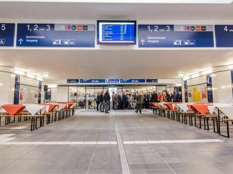 Eröffnung der neuen Gleisunterführung. Foto: Pascal Höfig